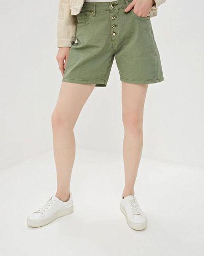 Джинсовые шорты зеленый хаки Gaudi