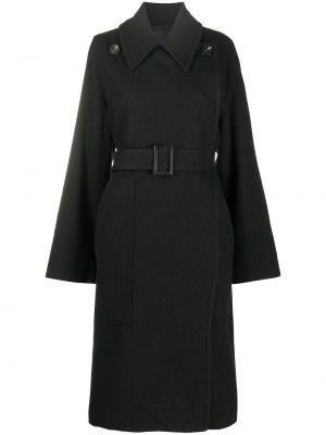Długi płaszcz wełniany - czarny Rick Owens