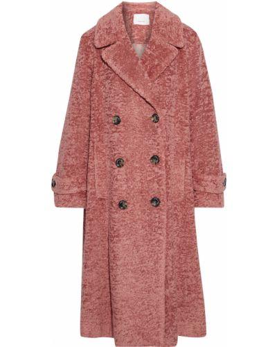 Пальто двубортное с карманами на пуговицах Cinq A Sept