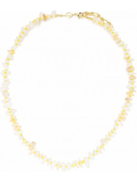 Złoty naszyjnik z pereł - biały Anni Lu