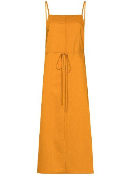 Pomarańczowa sukienka z jedwabiu Baserange