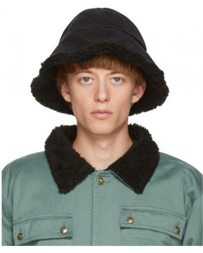 Ватная парусиновая черная шапка с подкладкой Vyner Articles