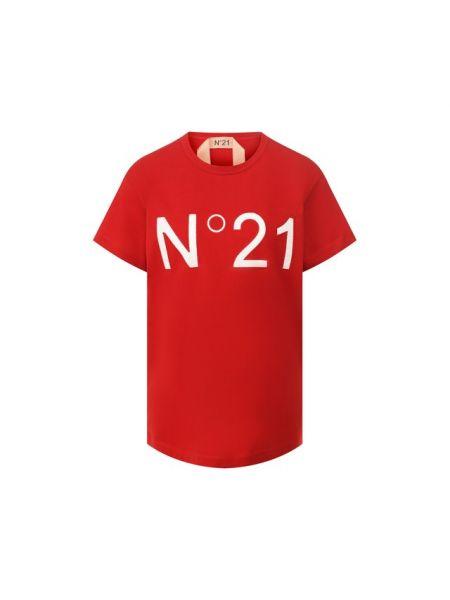 Хлопковая футболка - красная No. 21