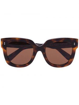 Brązowe okulary oversize z akrylu Chimi