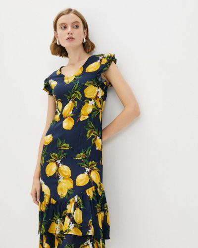 Синее зимнее платье Zibi London