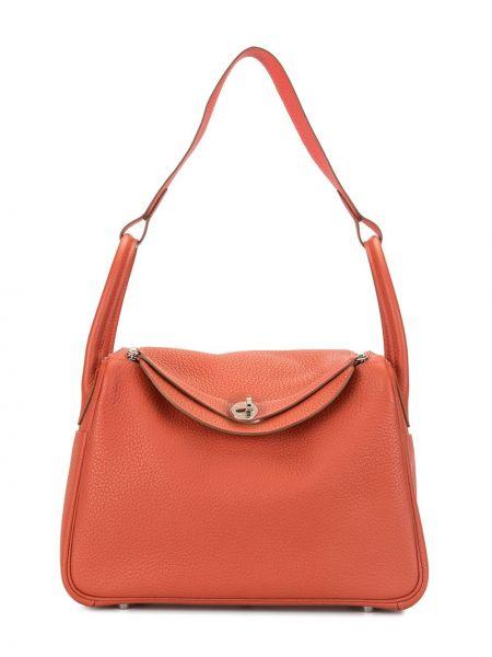 Кожаная сумка с ручками с подкладкой Hermès