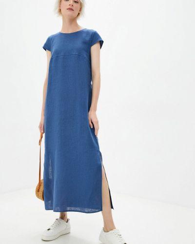 Синее прямое платье Gabriela
