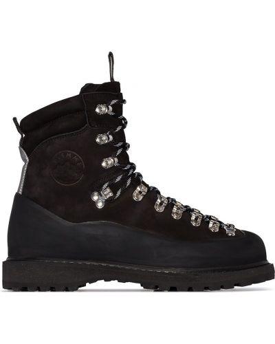Ажурные черные ботинки трекинговые Diemme