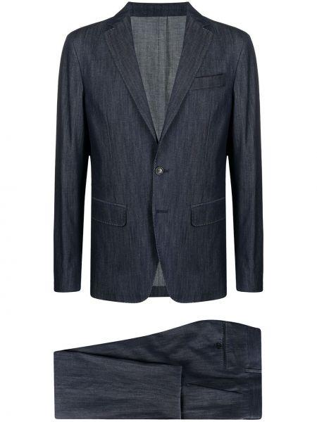 Kostium dżinsowa garnitur z długimi rękawami z klapami z kieszeniami Dsquared2