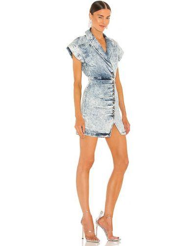 Плиссированное платье - синее Retrofete