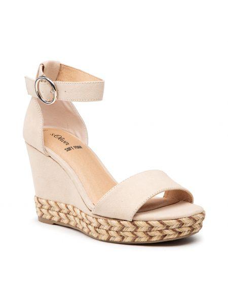 Sandały espadryle - beżowe S.oliver