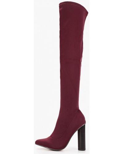 Ботинки на каблуке осенние красные Ws Shoes