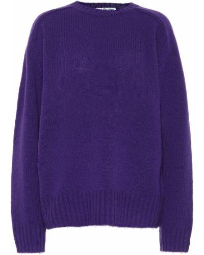 Шерстяной вязаный малиновый свитер Acne Studios