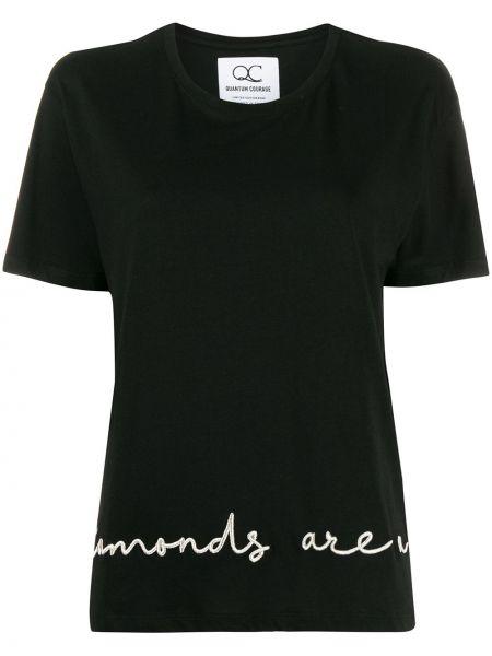 Футбольная черная футболка с вышивкой Quantum Courage