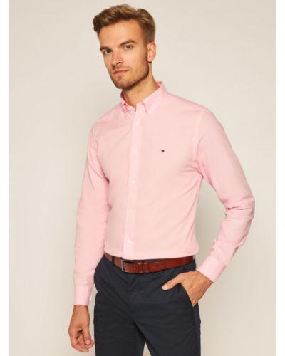 Różowa koszula oxford Tommy Hilfiger