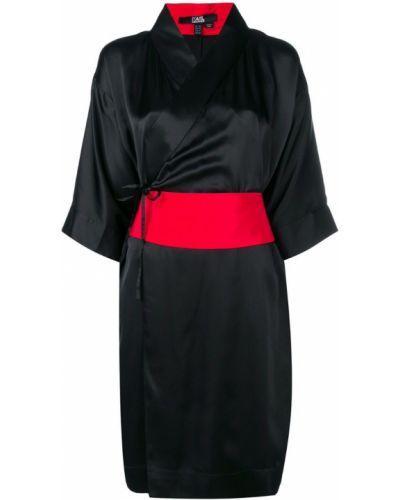 Платье с поясом с запахом с V-образным вырезом Karl Lagerfeld
