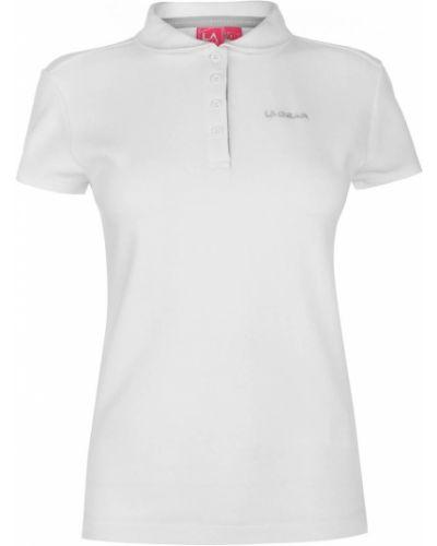 Biała koszula bawełniana krótki rękaw La Gear