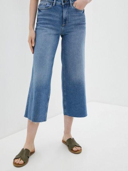 Широкие джинсы расклешенные синие Ichi