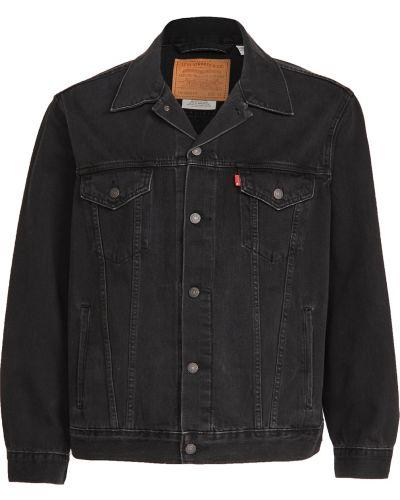 Ватная черная джинсовая куртка винтажная Levi's®