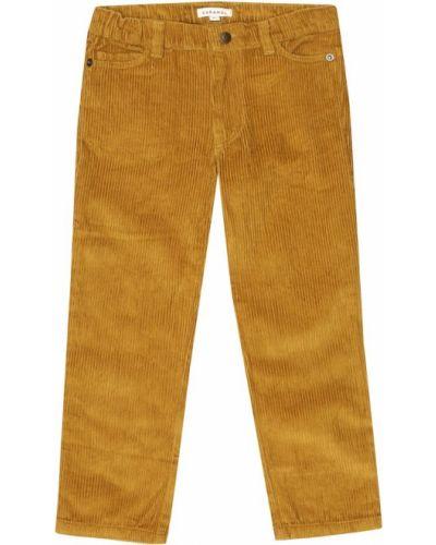 Ватные горчичные брюки вельветовые Caramel