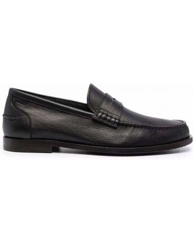 Коричневые кожаные туфли Bally