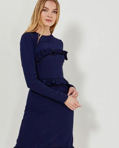 Прямое синее платье Lost Ink.