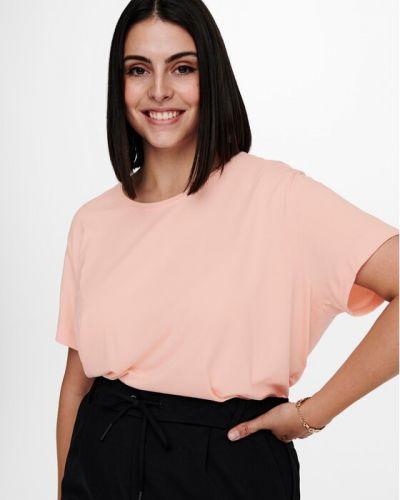 T-shirt - pomarańczowa Only Carmakoma