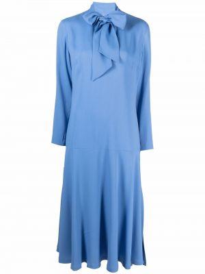 Платье миди с длинными рукавами - синее Lautre Chose