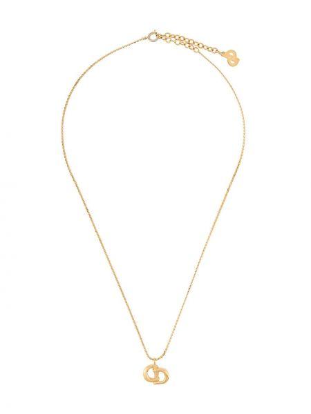 Подвеска металлическая - желтая Christian Dior Pre-owned