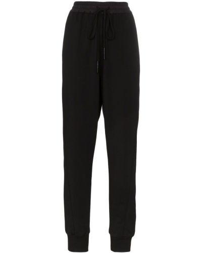 Черные спортивные брюки с поясом с манжетами Ten Pieces