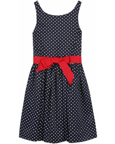 Платье с поясом в горошек на пуговицах Polo Ralph Lauren