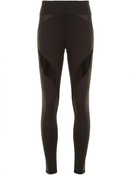 Czarne legginsy z siateczką z nylonu Michi