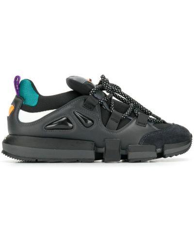 Кроссовки на шнуровке черные Diesel