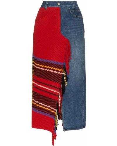 Юбка миди джинсовая на пуговицах Sjyp