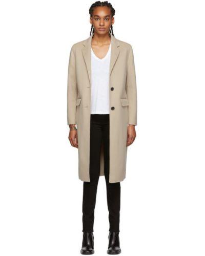 Długi płaszcz skórzany wełniany Mackage