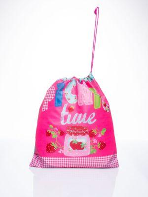 Różowy sport plecak szkolny materiałowy Fashionhunters