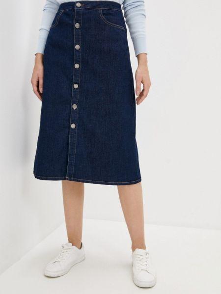 Джинсовая юбка синяя весенняя Incity