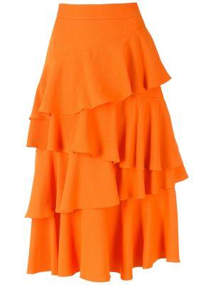 Юбка миди - оранжевая Olympiah