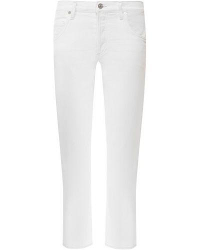 Укороченные джинсы белые синие Citizens Of Humanity