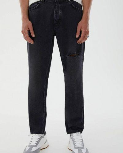 Черные прямые джинсы Pull&bear
