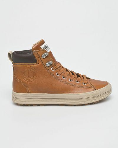 Ботинки на шнуровке кожаные высокие Palladium