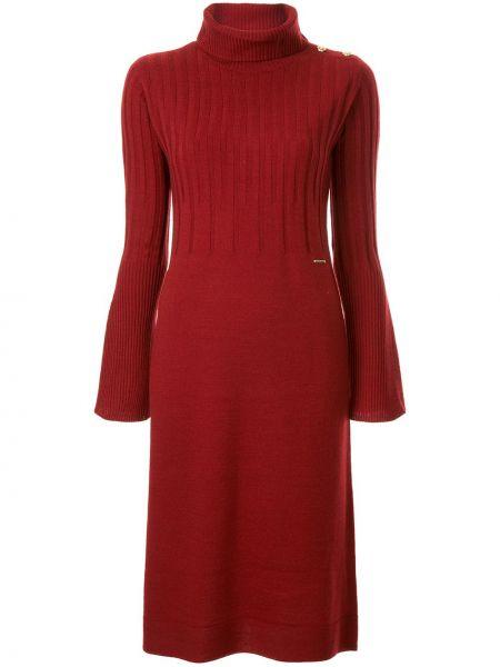 Платье миди водолазка красный Loveless