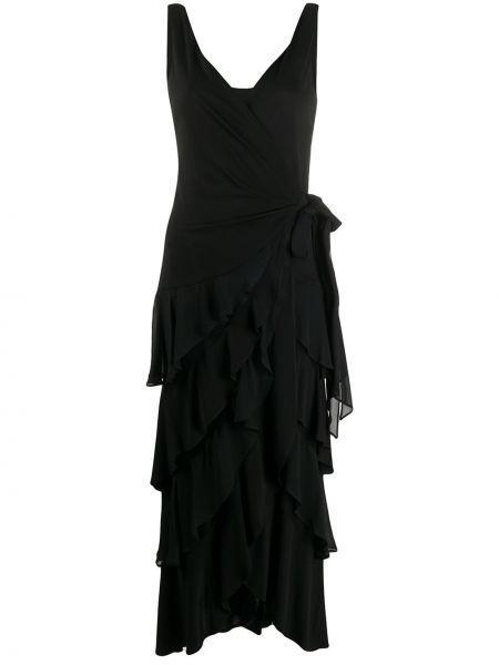Однобортное платье с V-образным вырезом без рукавов на молнии Moschino Pre-owned