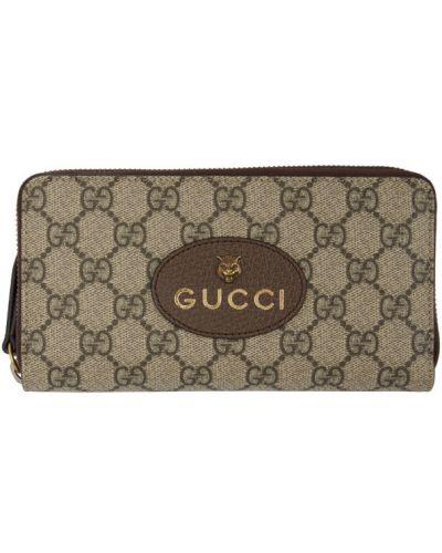 Черный кожаный кошелек с карманами Gucci