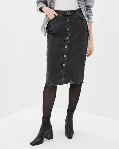 Серая джинсовая юбка Sela