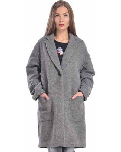 Пальто из полиэстера - серое Armani Jeans