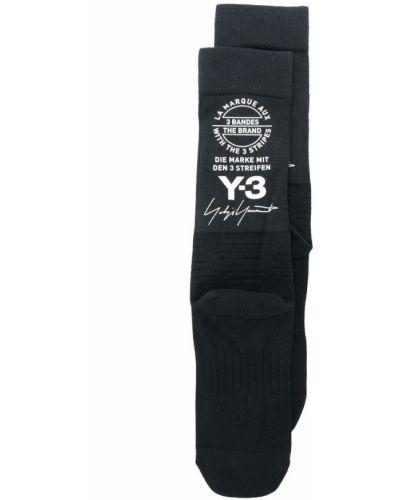 Носки в рубчик с логотипом Y-3