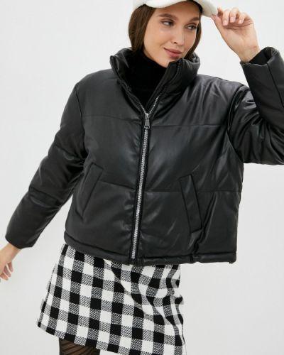 Черная зимняя кожаная куртка Incity