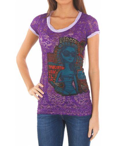 Блузка фиолетовый весенний Custoline