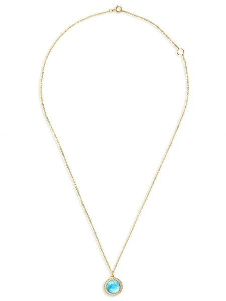 Niebieski złoty naszyjnik perły Ippolita